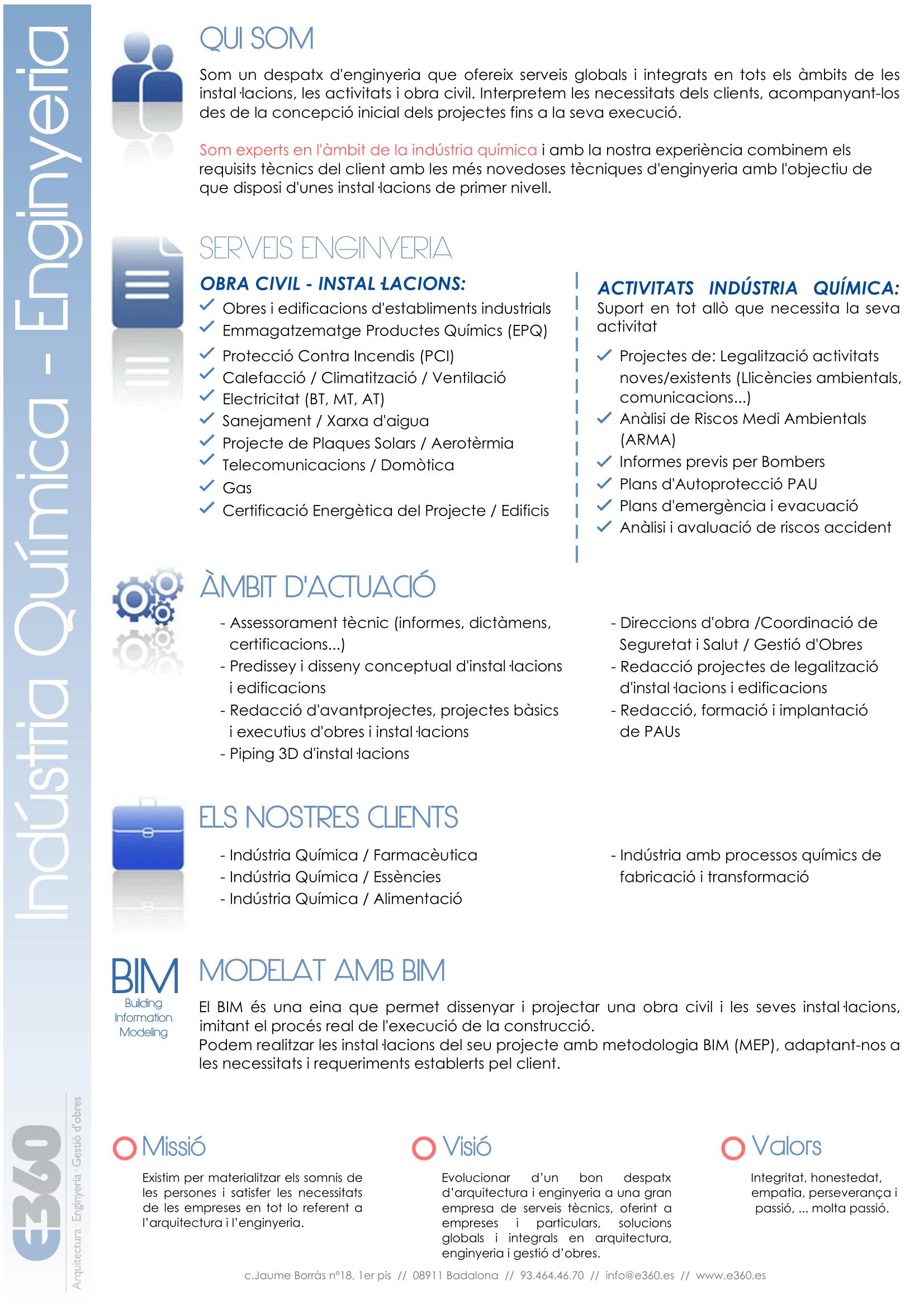 Servicios Ingeniería para la Industria Química y Farmacéutica